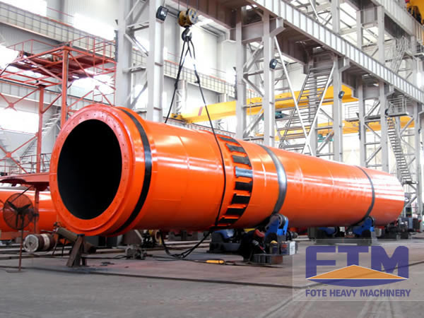 rotary drum dryer machine in factory