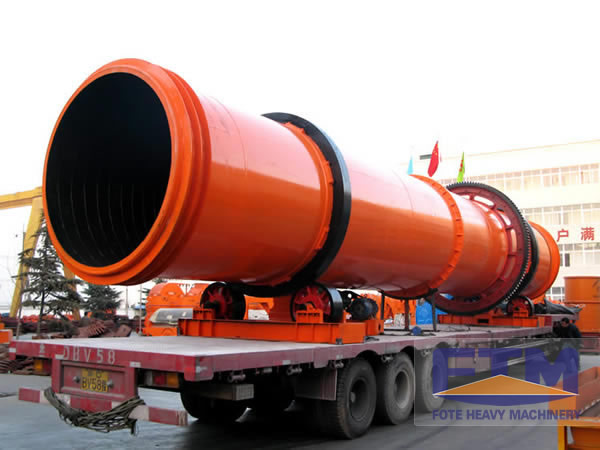 shipping of rotary drum dryer machine