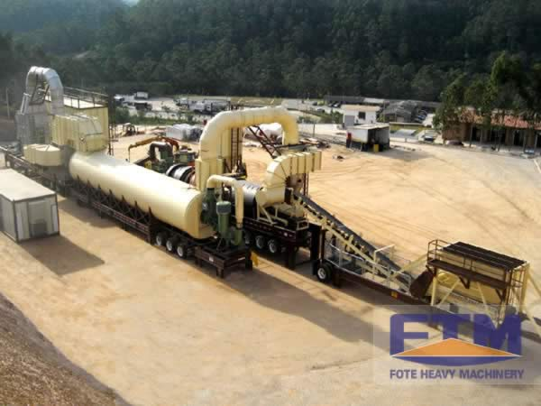 Oil Palm Fiber Dryer Work Site